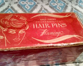 vintage- made in france - Flamingo brand hairpins