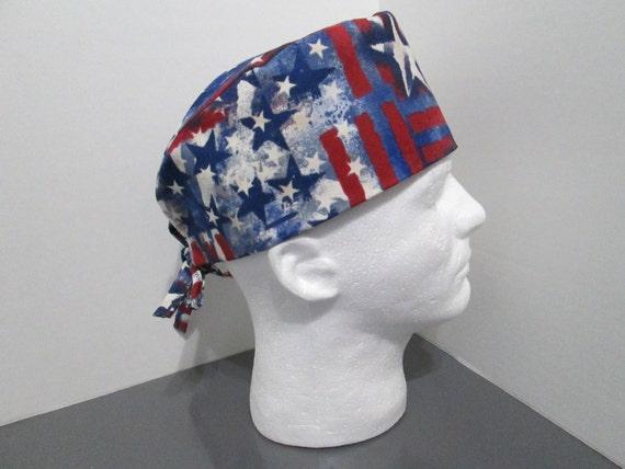 Patriotic Watercolors Unisex Surgical Scrub Cap