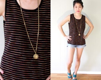 50% OFF 80s Striped Tank Top SIZE S M