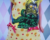 REDUCED ~~ Mars Attacks ~~ Dress for Neo Blythe doll ~~ Recycle, Reuse, Renew, Upcycled RED DOTS