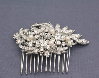 Wedding hair comb pearl Hair comb Bridal hair comb pearl Wedding accessories Wedding hair jewellery Wedding comb bridal hair piece Wedding