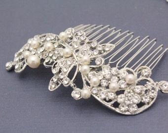 Bridal hair comb pearl wedding comb bridal hair accessory wedding hair jewelry bridal hairpiece wedding hair comb bridal jewelry wedding