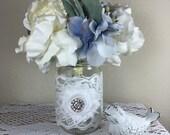 Set of 10 Pint Mason jar wraps , Chabby Chic wedding decor, Wedding decor, Mason jar, Wedding centerpiece, Pint Mason jar sleeves, Wedding