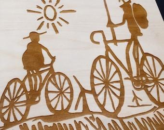 Don Quixote Bike Lasercut Wall Art
