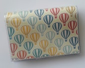 Cash/Card Wallet - Hot Air Balloon/Walla Wallat, vintage, victorian, balloon stampede, card & cash case, vinyl wallet, snap wallet