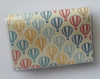 Cash/Card Wallet - Hot Air Balloon/Walla Wallat, vintage, victorian, balloon stampede, card & cash case, vinyl wallet, snap wallet