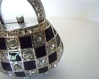 Engagement Ring Box Mini Handbag Miniature Purse Jewelry Box