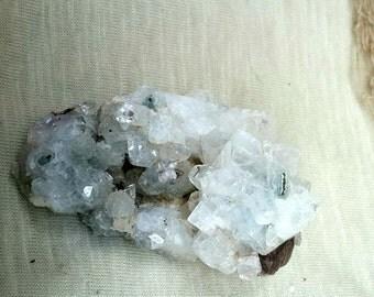 Apophyllite Cluster -Crown Chakra- meditation stone - white apophyllite raw stone
