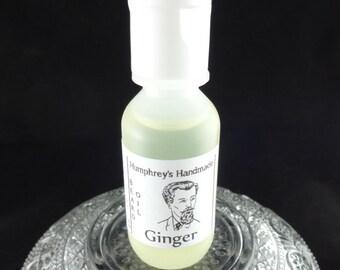 Men's GINGER Beard Oil, .5 oz Sample All Natural Beard Oil, Ginger Scented, Beard Conditioner, Apricot Kernel Oil, Essential Oil