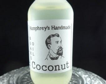 COCONUT Beard Oil, Cologne Oil, Small .5 oz Tropical Coconut Scented Beard Conditioner, Natural Beard Oil, Apricot Kernel Oil, Avocado Oil