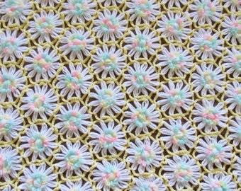 Sweet Daisy Vintage Bedspread, Blanket