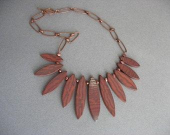 Red Jasper Dagger Necklace