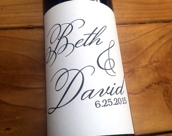 Custom Wedding Wine Labels, Personalized Wine Labels, Table Number Wine Labels, Wedding Wine Label, Custom, Decor, Monogram Wine Labels