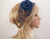 Crochet headband headwrap ear warmer - multicolor - handmade Winter Fashion Winter Accessories by Sandy Coastal Designs ready to ship
