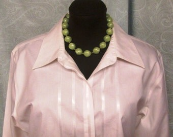 Green Beaded Necklace Choker Circa 1950's Made in Germany