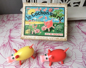 """Vintage French Game  Le Cochon qui rit """" The laughing pig"""""""