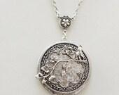 Locket,Cherry Blossom,Jewelry,Necklace,Pendant,Locket,Silver Locket,Antique Style,Flower Locket,Flowert,Wedding Necklace,bridesmaid necklace