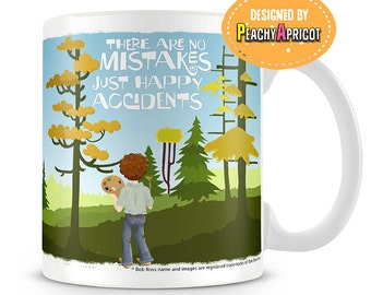 Bob Ross Mug - Happy Little Accidents Mug - The joy of painting officially licensed Bob Ross products -  Positive quotes by Bob Ross