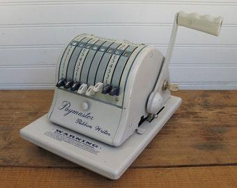 Vintage Paymaster Ribbon Writer Series 8000 - Works Great!