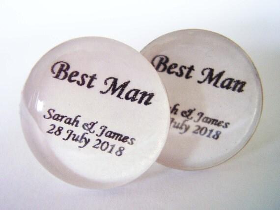 Best man - cufflinks, cufflinks - best man, Best Man Cufflinks, Wedding Cufflinks, Silver Cufflinks, Personalized Cufflinks,  Wedding gifts