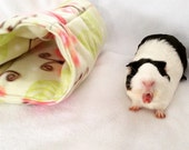 Cozy tunnel for small animals guinea pig,rabbit, ferret, pet hideout, pigaloo, pet sleeping bag. cage accessories, small animal toy, hideout