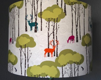 Frankly, My Deer fabric drum lampshade