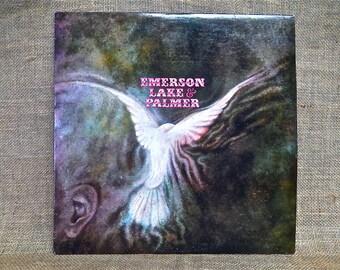 CRAZY CUPID SALE Emerson Lake & Palmer - Emerson, Lake and Palmer  - 1971 Vintage Vinyl Record Album