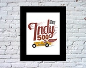 Indy 500 Color Print
