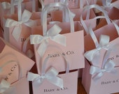 Pink  party favor bags for your baby shower