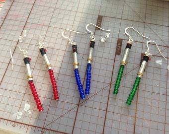 Upcycled Lightsaber Earrings