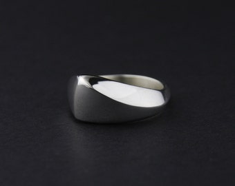 Pointed Wave Ring: Sterling Silver
