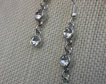 Rhinestone Chain Earrings