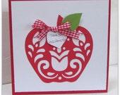 Paper Cut Thank You Teacher Apple Card