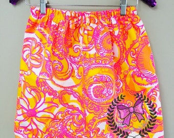 READY TO SHIP Skirt Sea and Be Seen Inspired Lilly Pulitzer Skirt