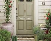 Front Door Vinyl Welcome Sign