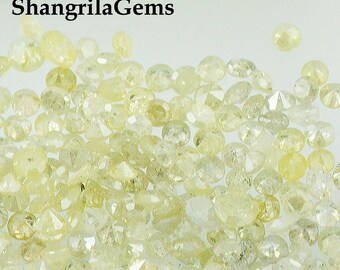 0.5ct 2mm light yellow champagne brilliant cut round 14 diamonds approx