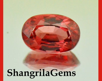 1.43ct Red Spinel oval gemstone 8mm by 5.4mm by 3.95mm natural and untreated AAA