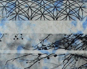 OOAK art, abstract art, etching on handmade paper