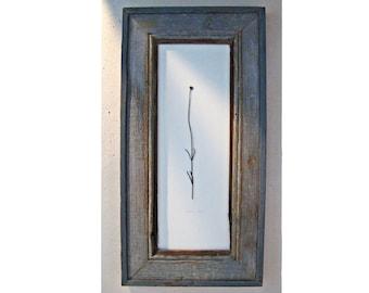 Lavender .||. framed in weathered wood