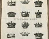 Crown Tea Towels - Kitchen - Houseware - Gift - French - Crowns - European