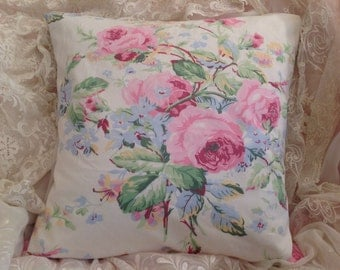 Vintage RALPH LAUREN pillow COVER Gorgeous Shabby colors