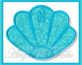 Sea Shell Banner Add On - 3 Sizes, Machine Embroidery
