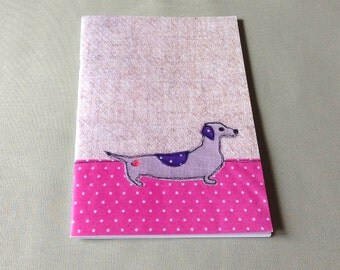 Dachshund Notebook, A5 Notebook, large notebook, plain pages, sketchbook