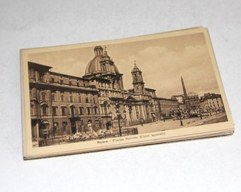 25 Vintage Rome Italy Black and White Postcards Blank - Wedding Guestbook