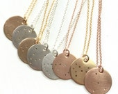 Leo Constellation Necklace | Zodiac Constellation Charm | Sterling Silver | Gold Filled | Rose Gold Filled