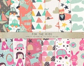 INSTANT DOWNLOAD - For the Kids Seamless Patterns