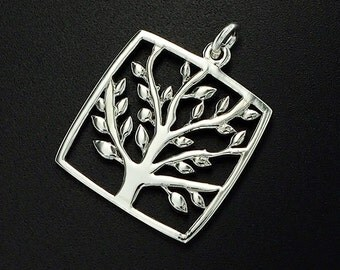 1 of 925 Sterling Silver Tree of Life Pendant 20 mm.Polish Finished  :tm0054
