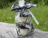 Mini Mason Jar Candle 2Pack Gift Set- 4oz Jar with Black Metal Lid-Vermont Cottage Candles