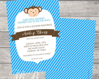 Monkey Banner Baby Shower