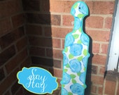 Cello Shaped Sorority Paddle hand painted and inspired by Lilly Pulitzer First Impression Poolside